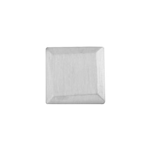Bevelled Square Lapel Pin in Sterling Silver