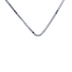 "Box Chain 22""/55cm in sterling silver"