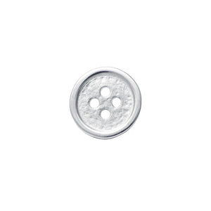 Button Lapel Pin or Tie Tack in Sterling Silver