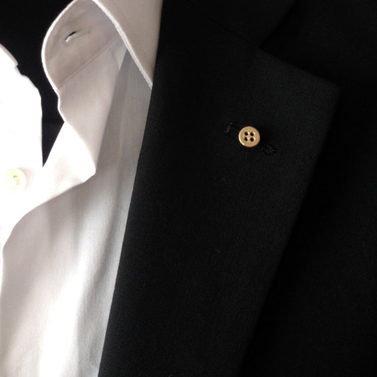 14ct Gold Button Lapel Pin
