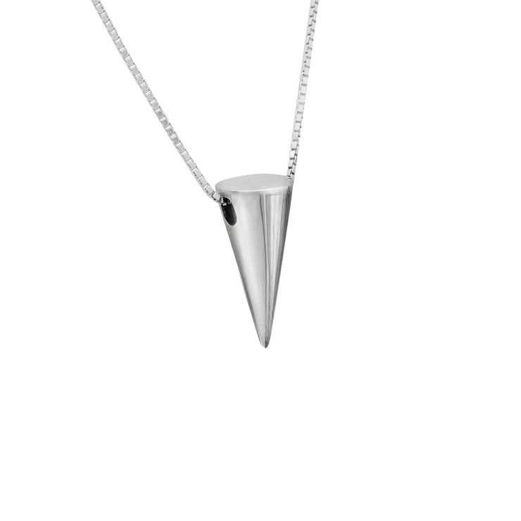 Edge Only 3D Cone Pendant in Sterling Silver