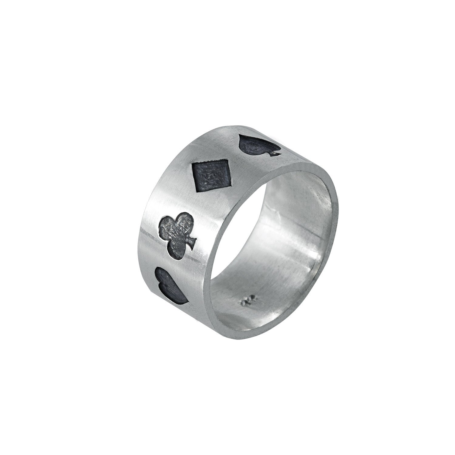 Poker Ring Oxidised in Sterling Silver