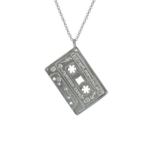 Electronic Sheep X Edge Only Mixed Tape Pendant in sterling silver