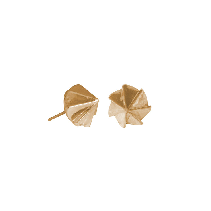 Edge Only Countersink Earrings in 18ct gold vermeil