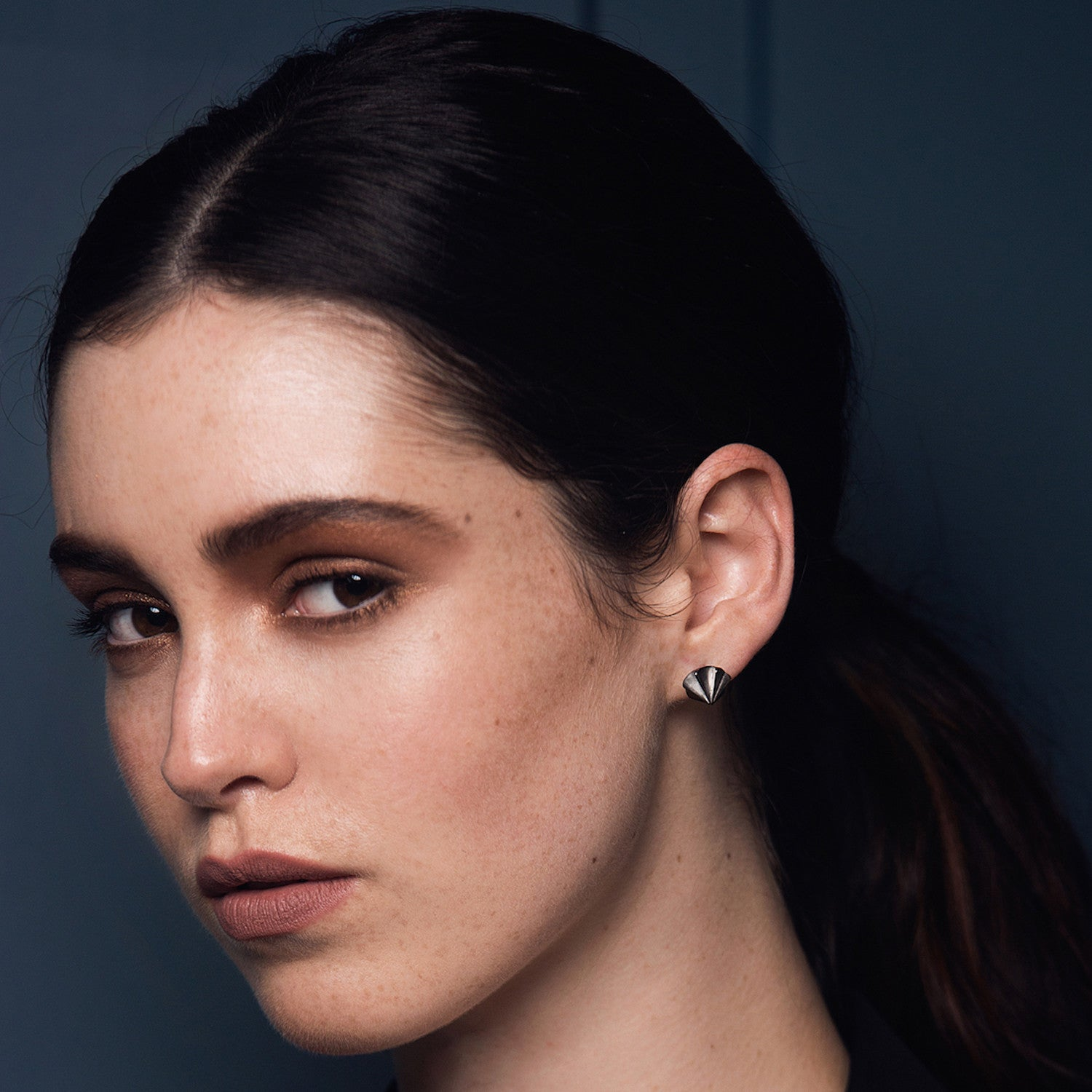 Countersink Earrings in Black Rhodium