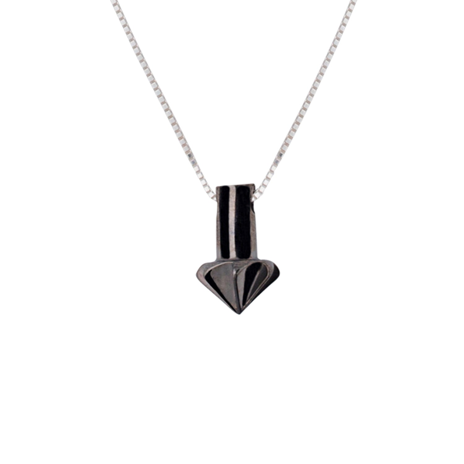 Edge Only Countersink Pendant in Black Rhodium