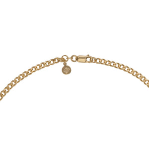 "Edge Only 3.7mm Curb Chain clasp and tag 24"" 18ct gold vermeil"