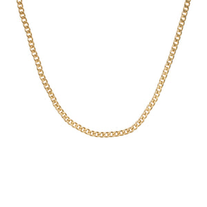 "Edge Only 3.7mm Curb Chain 24"" 18ct gold vermeil"