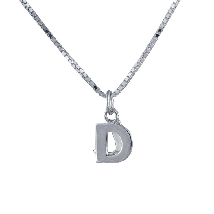 DJ Pendant in sterling silver heavy box chain