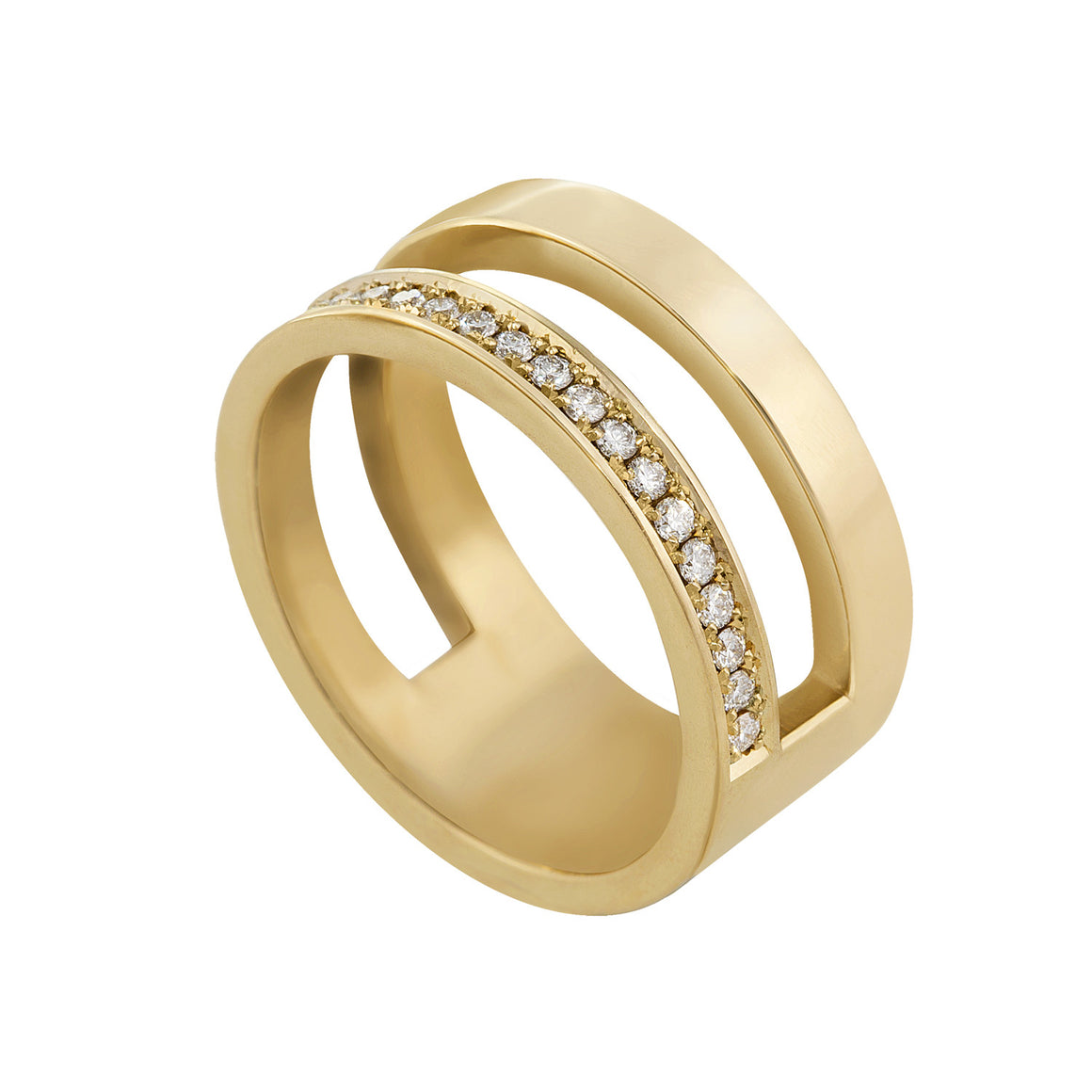 Diamond Parallel Ring - 14ct Gold