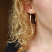 Edge Only Sleeper Hoops 50mm Gold Vermeil