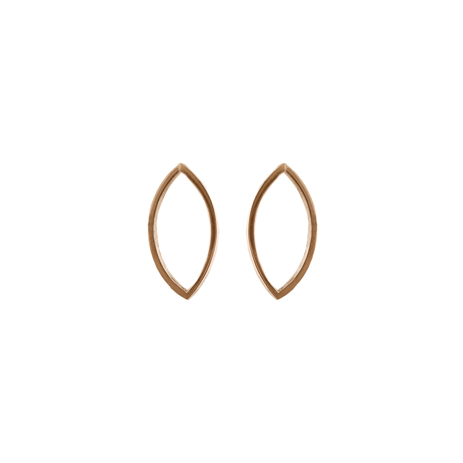 Marquise Slice Earrings in 14 Carat Gold