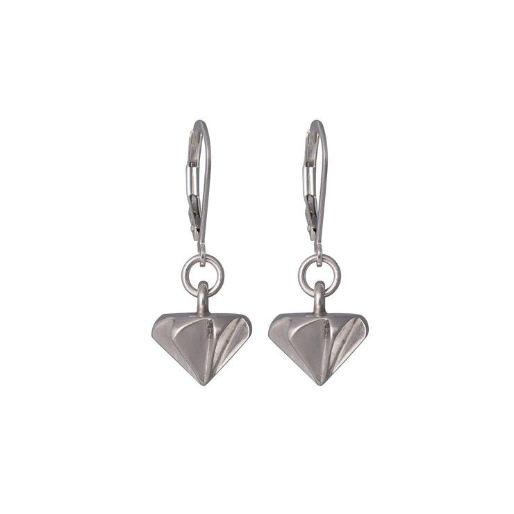 Countersink Drop Earrings in sterling silver
