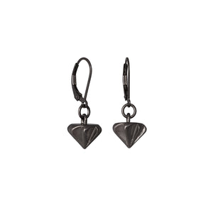 Countersink Drop Earrings Black Rhodium