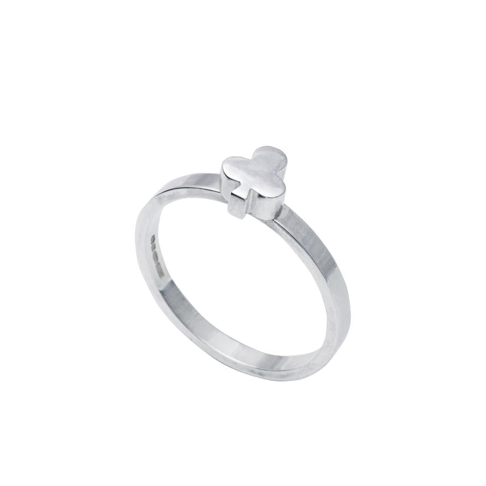 Edge Only Club stacking ring in sterling silver