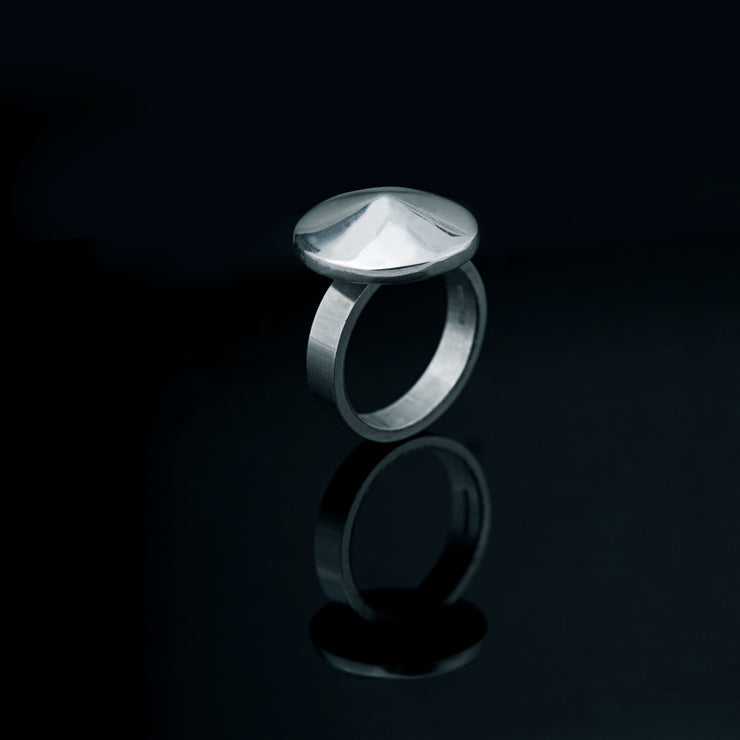 Edge Only Low Cone Ring in sterling silver