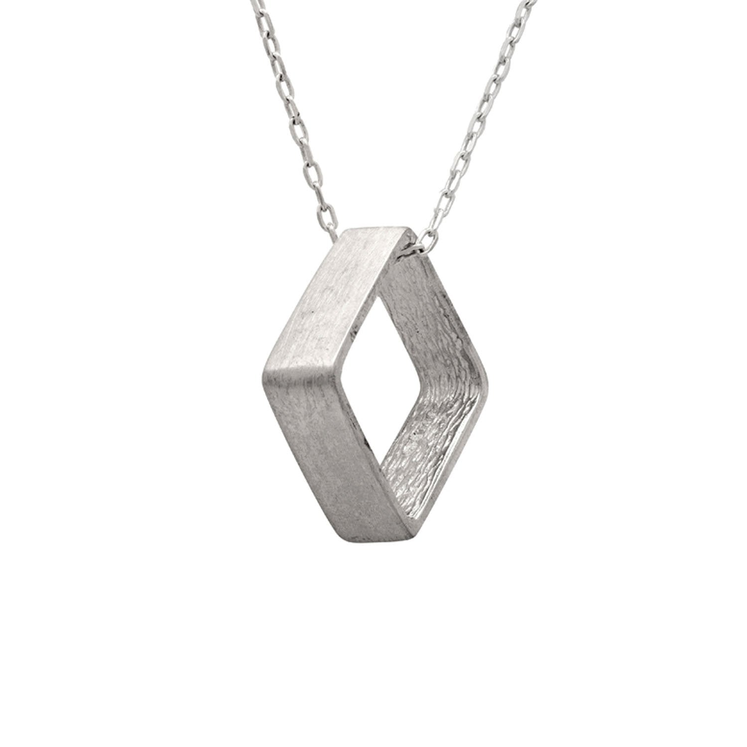 pendant products pavoi necklace interlocking square