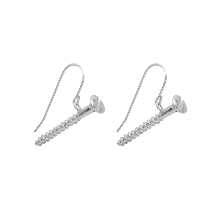 Edge Only Round-head Screw Drop Earrings sterling silver