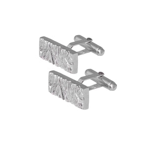 Edge Only Rugged Cufflinks in Sterling Silver