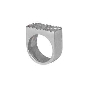 Rugged Ring in sterling silver