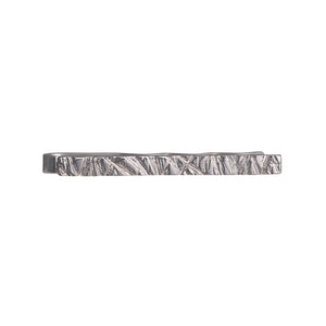 Rugged Tie Bar in sterling silver