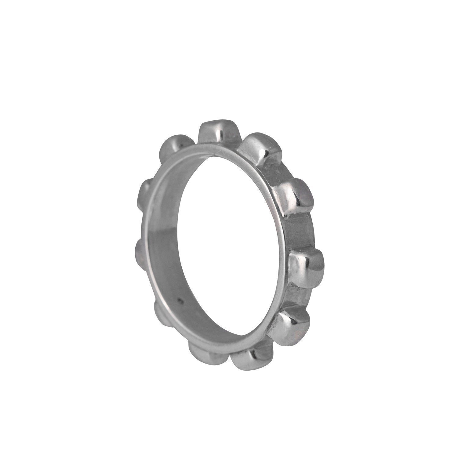 Worry Ring Mens in Sterling Silver