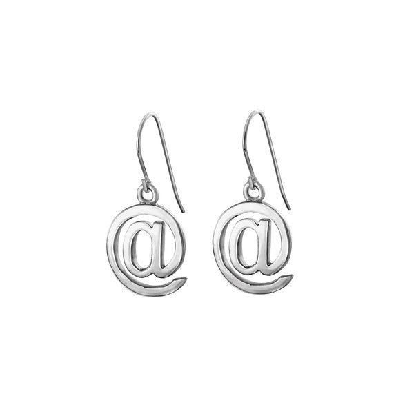 Edge Only At Symbol Drop Earrings in Sterling Silver