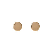 Edge Only Circle earrings in 9 carat gold