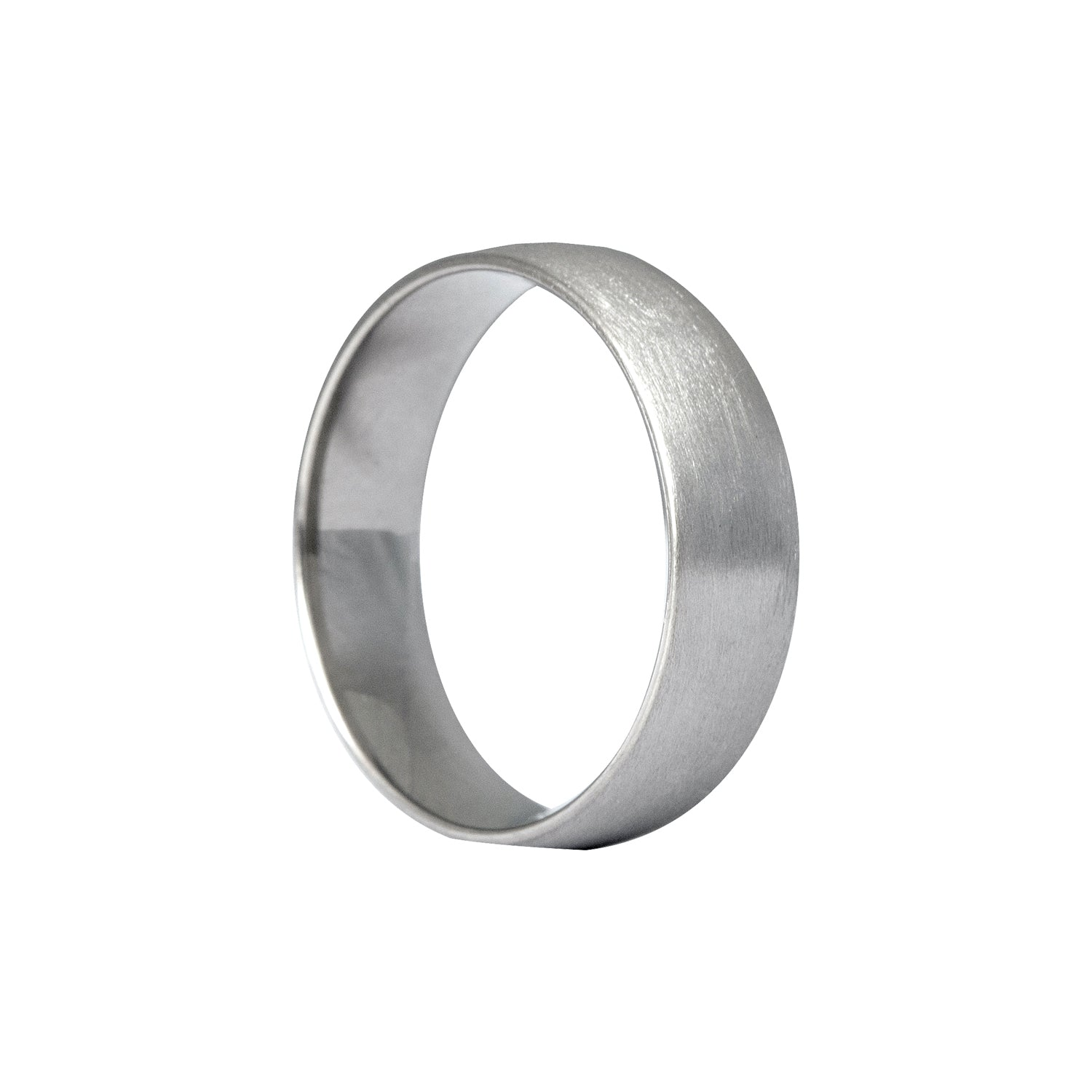 Edge_Only - Court Band Comfort Fit 6mm 14ct White Gold