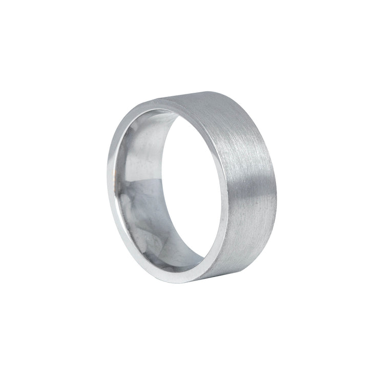 Edge Only Flat Matt comfort fit ring in sterling silver