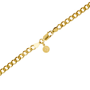 Edge Only Heavy Curb Chain in gold vermeil