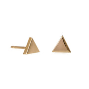Edge Only Triangle earrings in 9 carat gold