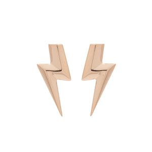 Edge Only 3D Flat Top Lightning Bolt Earrings in 18ct gold vermeil