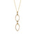 Edge Only - 14ct Gold Marquise Double Slice Pendant Necklace