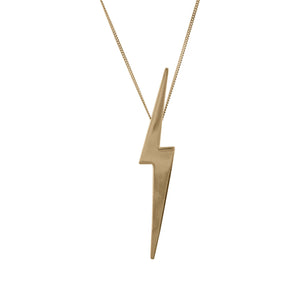 Skinny Lightning Bolt Pendant in 14 carat Gold