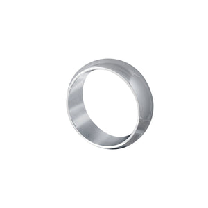 Edge Only Court Band 8mm comfort fit in 9 carat white gold