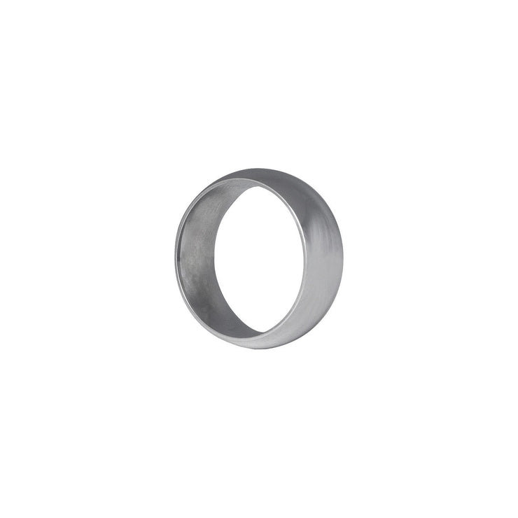 Edge Only Wide Court Band 8mm in 9 carat white gold