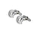 At Symbol Cufflinks in Sterling Silver