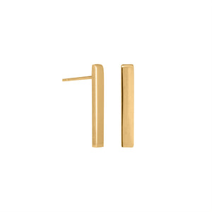 Edge Only Bar Earrings in 18ct gold vermeil