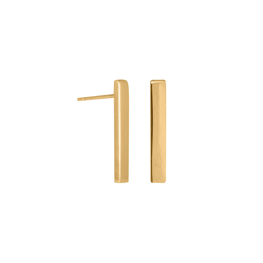 Edge Only Bar Earrings in sterling silver