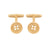 Edge Only Button Cufflinks in gold vermeil