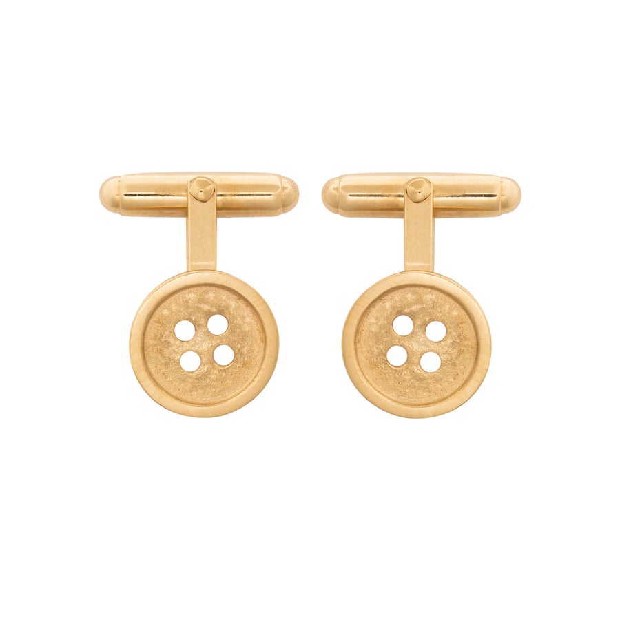 Edge Only Button Cufflinks in Sterling Silver