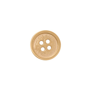 Edge Only Button Pin or Tie Tack in gold vermeil