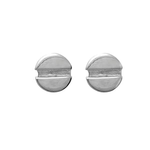 Edge Only Flat-head Screw Earrings in sterling silver
