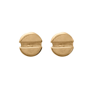 Edge Only Flat-head Screw Earrings in 18ct gold vermeil