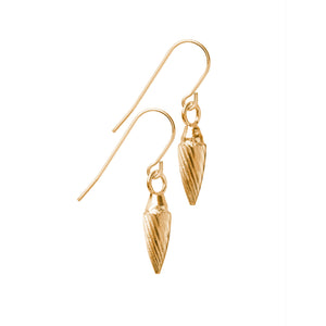 Spiral Drop Earrings in 18ct gold vermeil