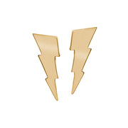 Edge Only Triple Bolt Earrings in 18ct gold vermeil