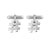 Hashtag Cufflinks in Sterling Silver