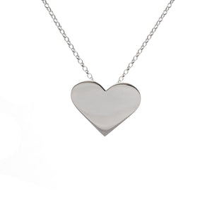 Edge Only Heart Pendant in sterling silver