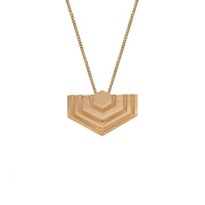 Hexagon Necklace in 14 Carat Gold